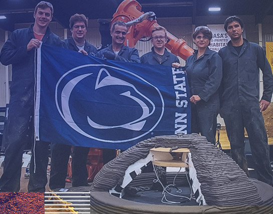 The Penn State Den@Mars team in the NASA 3D-Printed Habitat Challenge.