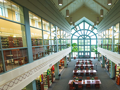 A photo of Penn State Behrend's library