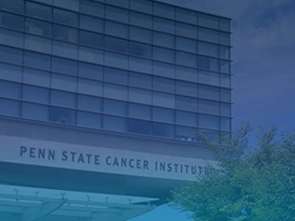 A photo of the Penn State Cancer Institute