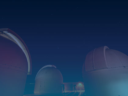 A photo of Penn State telescopes