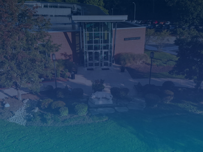 Aerial shot of a building at Penn State Greater Allegheny